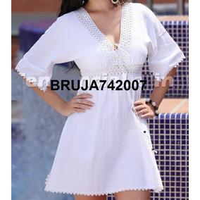 Ropa Playera - Hindu Vestido-bluson Blanco