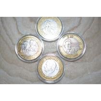 Lote De10 Capsulas Para Monedas 32 Mm