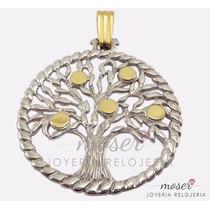 Dije Medalla Arbol De La Vida G R A N D E En Plata Y Oro