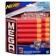 Lançador Refil Da Nerf Mega 10 Dardos Original Hasbro A4368
