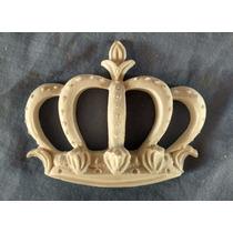 Aplique Coroa De Resina Vazada Pequena Decoração Artesanato