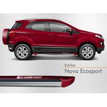 Estribo Nova Ecosport 2012 2013 2014 2015 Vermelho Merlot