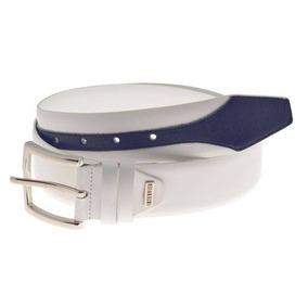 Cinto Fivela Oakley Couro Sintético Tamanho 40 42 44 46 48. Santa Catarina  · Interview White Navy Leather Belt b93ab66a7f0