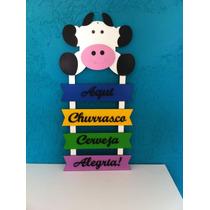 Placa Decorativa Para Churrasqueira, Churrasco,área De Lazer
