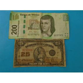 Billete Canada 25 Centavos