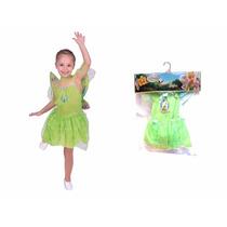 Disfraz Campanita - Tinker Bell Talle 0 New Toys- Minijuegos