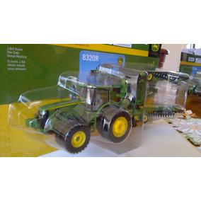 Trator John Deere 8320r E Grade Niveladora Escala 1/64-ertl