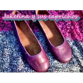 Chatitas -balerinas - Guillerminas De Cuero 100%