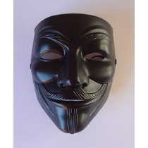 Máscara V De Vingança - Black Edition Anonymous
