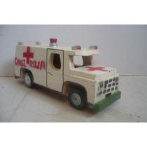 Ambulancia Cruz Roja - Camioncito De Madera - Camion Escala