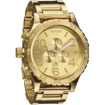 Relógio Nixon Chrono 51-30 Original Dourado Preto Garantia