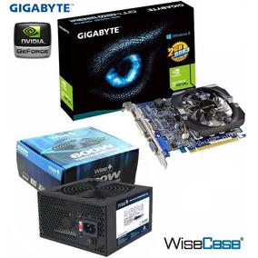Placa Video Geforce Gt420 2gb 128bits Ddr3 + Fonte 600w Real