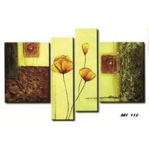 Cuadros Triptico Modernos Abstractos Con Relieves Y Texturas