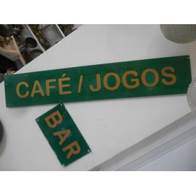 Placas De Acrilico, Bar / Cafe /jogos