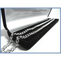 Elegante Cadena En Plata Solida Mod. Barbad De 5mm 37grs Acc