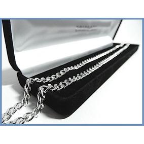 Elegante Cadena En Plata Solida Mod. Barbada De 5mm 37grs