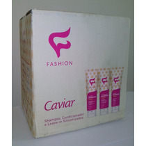 Kit Capilar Caviar Fashion Cosmeticos 24 Unidades + Brinde