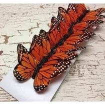 Hermosas Mariposas Decorativas De Pluma Natural.