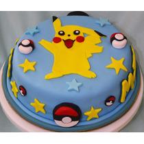 Torta Cumpleaños Infantiles Pikachu Pokemon Caseras Cupcakes