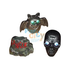 Adorno Decoración Halloween Con Luz Y Sonido Surtidos X1