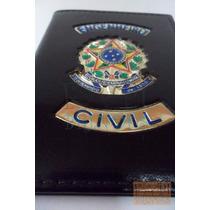 Porta Funcional Crea Engenheiro Civil Em Couro Legítimo P01p