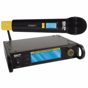 Microfone Sem Fio Skp Digimod I Uhf Digital Simples De Mão