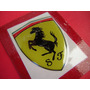 Ferrari - Escudo Autoadhesivo En Resina