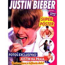 Revista Pôster Justin Bieber Raríssima! = 52x81cm + 20 Fotos