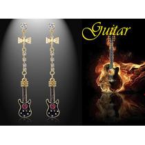 Brincos De Guitarra Cristal Rock ´n Roll