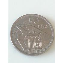 Moneda España Spain 50 Pesetas 1957 * 58
