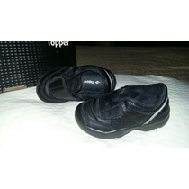 Zapatillas Topper Del Colegio Negras, Impecables Con Abrojo
