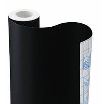 Papel Adesivo Contact Preto Opaco 45 Cm X 10m Vulcan