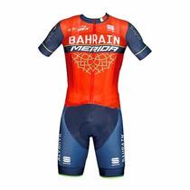 Uniforme Ciclismo Bahrain Merida 2017 Jersey + Short Bib