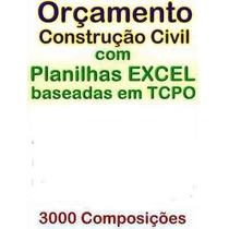 Planilha Orçamento De Construção Civil Excel Tcpo