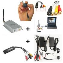 Mini Câmera Espiã Wireless C/placa De Captura De Vídeo/audio