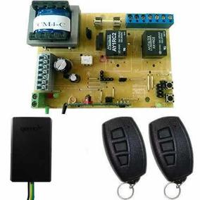 Kit Placa P/ Motor Portão Rcg + 2 Controles Genno + Tx Car