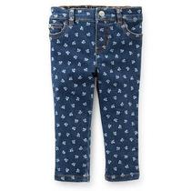 Carters Calça Jeans Com Elastano Floral Carter
