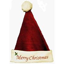 Decoración Borgoña Bordadas Feliz Navidad Sombreros De Papá