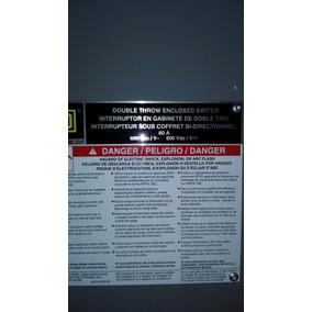 Interruptor De Seguridad Doble Tiro Square D Tipo Dtu 362