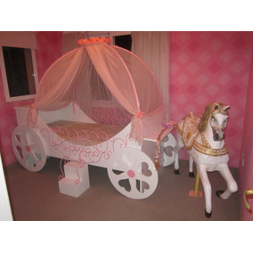 50%anticipo Cama Carroza De Princesa C/dosel Loreley Mobel