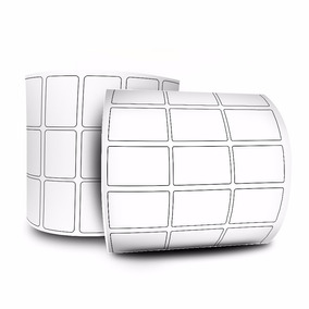 10 Rolos Etiqueta Couche 33x22 3 Colunas 32 M + 5 Ribbons
