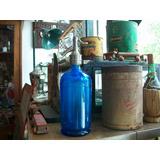 Antigua Antiguo Auto Sifon Patentado 1910 Color Azul