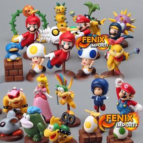 Boneco Super Mario Bros Coleção Miniatura Mario Cada