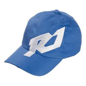 Boné Logo Marca R1 - Branco E Azul