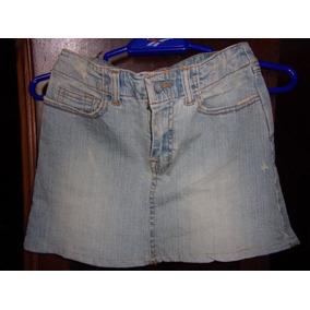 Minifalda De Jeans Alicrada Nueva