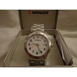 Remato Reloj Suizo Caballero Wenger Original Acero 43mm