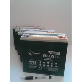 Kit 4 Bateria Gel Global 12v 24ah Ciclo Profundo 6-dzm-20