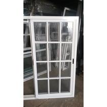 Ventana De Aluminio Blanco 150x150 Vidrio Repartido