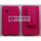 Funda Clip Holster Case Combo Lg T395 Cookie Color Rosa