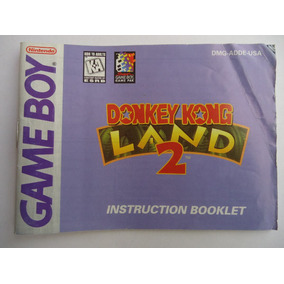 Instructivo Manual De Donkey Kong Land 2 Para Gameboy Gb